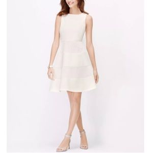 NWT ANN TAYLOR White Mesh Embroidered Dress